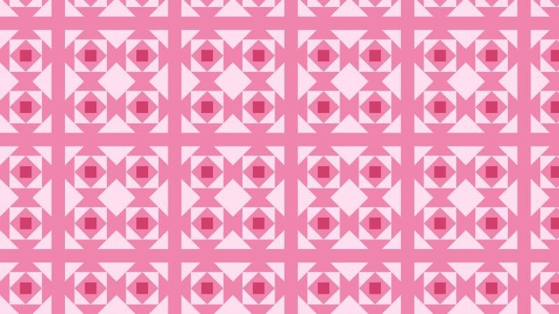 Pink Seamless Geometric Square Pattern Background Illustrator