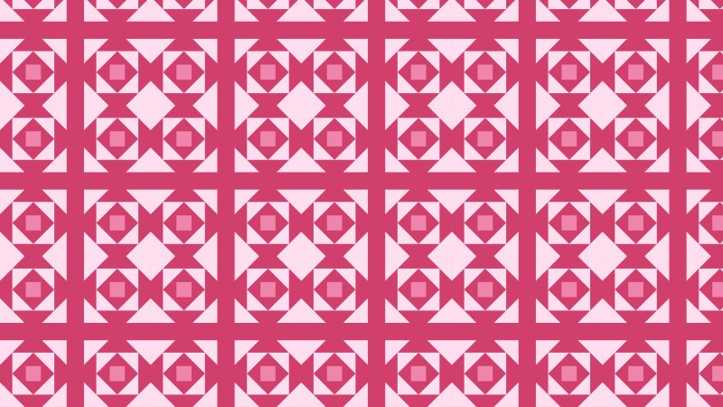 Pink Seamless Geometric Square Background Pattern Vector Illustration