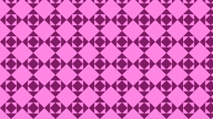 Fuchsia Geometric Square Pattern