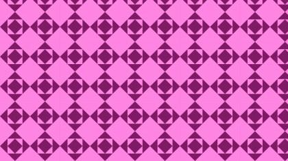 Fuchsia Geometric Square Pattern