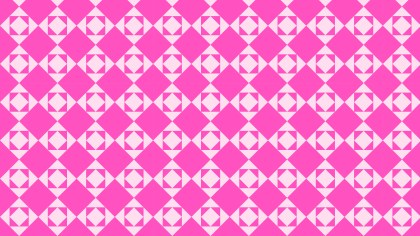 Rose Pink Seamless Square Pattern