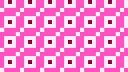 Rose Pink Square Background Pattern Design
