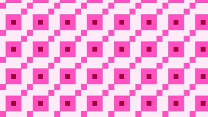 Rose Pink Geometric Square Pattern Image