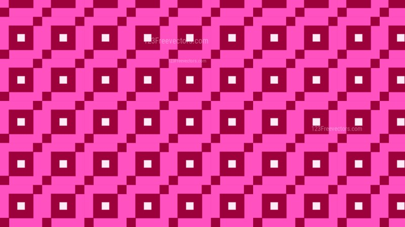 Pink Geometric Square Pattern Background Vector Graphic
