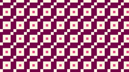 Pink Seamless Square Pattern Background Vector Illustration