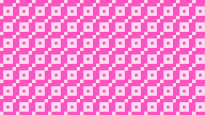 Rose Pink Seamless Geometric Square Pattern Vector Art