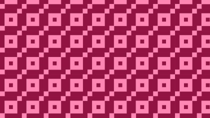 Pink Seamless Geometric Square Pattern Background Graphic