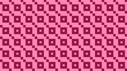 Pink Seamless Geometric Square Background Pattern Illustration
