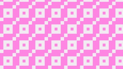 Rose Pink Geometric Square Pattern