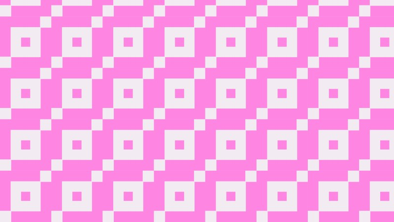 Rose Pink Geometric Square Pattern