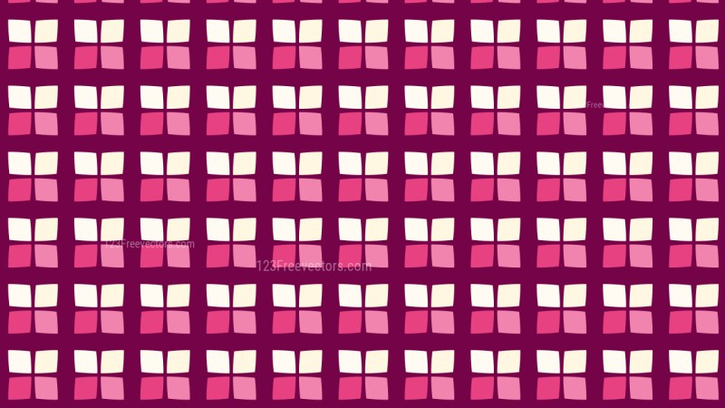 Pink Seamless Square Background Pattern