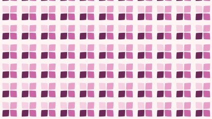 Pink Seamless Geometric Square Pattern