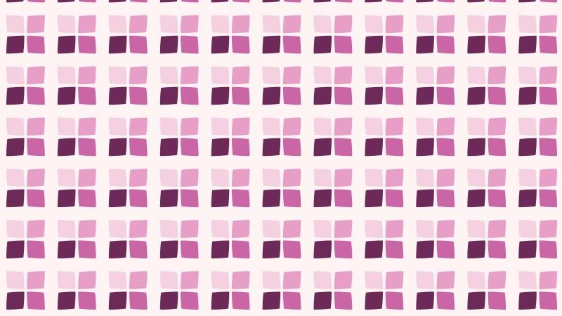 Pink Seamless Geometric Square Pattern