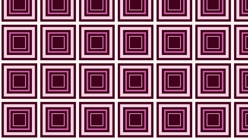 Pink Seamless Concentric Squares Background Pattern Vector Illustration