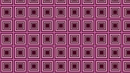 Pink Concentric Squares Pattern