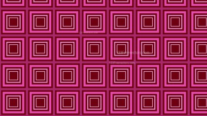 Pink Concentric Squares Pattern Background