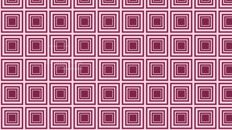 Pink Seamless Concentric Squares Pattern Background