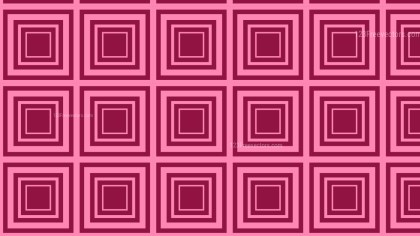 Pink Concentric Squares Background Pattern Illustrator