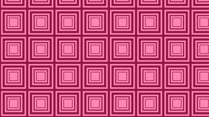 Pink Seamless Concentric Squares Pattern Vector Illustration
