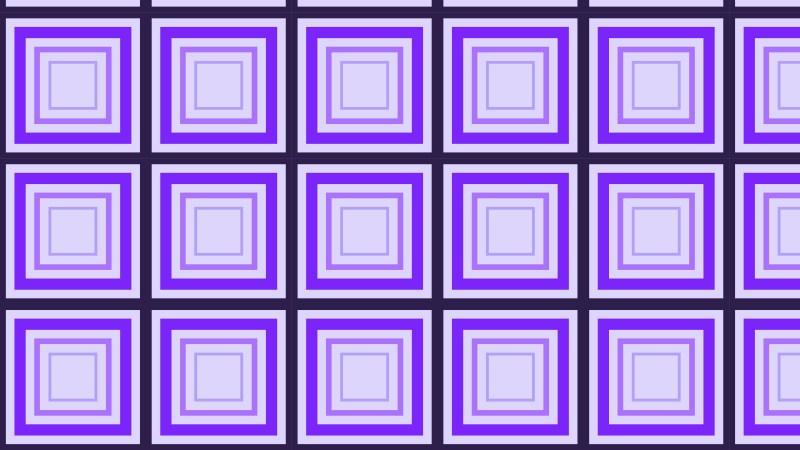 Purple Concentric Squares Pattern