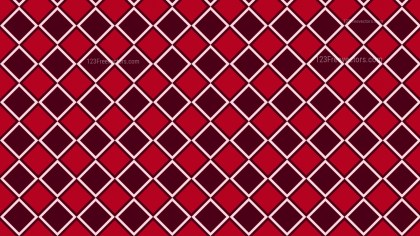 Dark Red Seamless Geometric Square Pattern