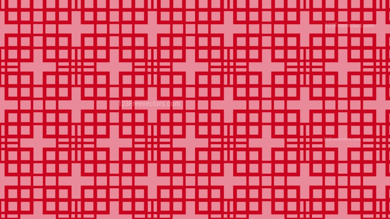 Red Seamless Geometric Square Pattern
