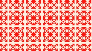 Red Seamless Geometric Square Pattern Vector Illustration