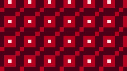 Dark Red Square Pattern Design