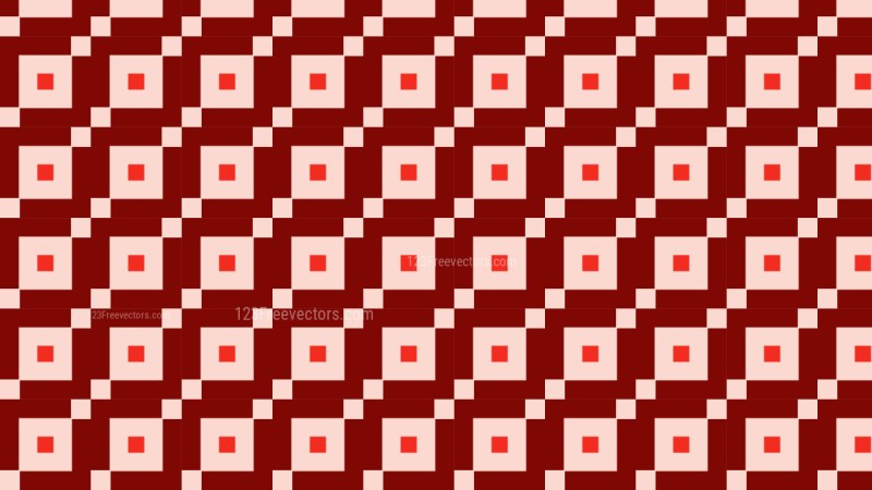 Red Seamless Geometric Square Pattern Illustration