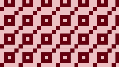 Red Seamless Geometric Square Pattern Background Design