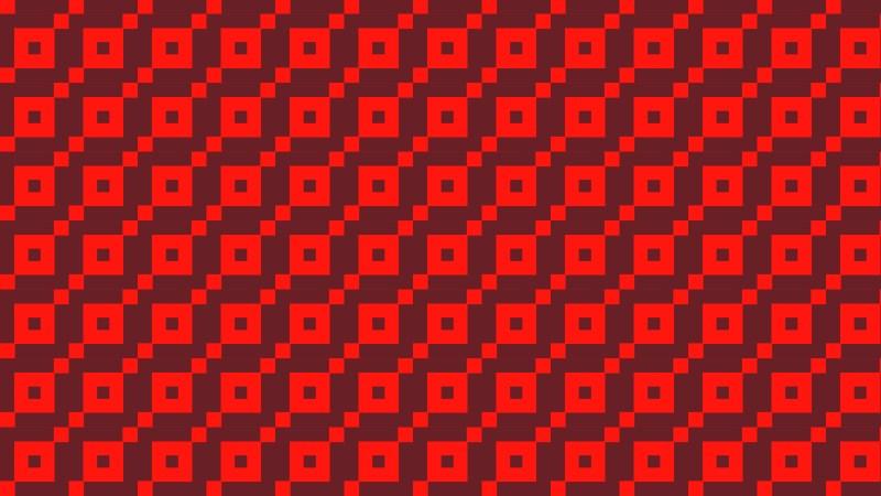 Red Geometric Square Pattern