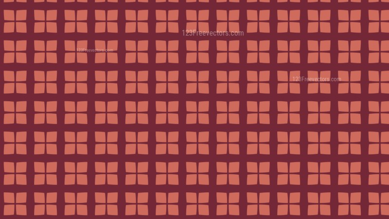 Red Square Pattern Background Vector Illustration