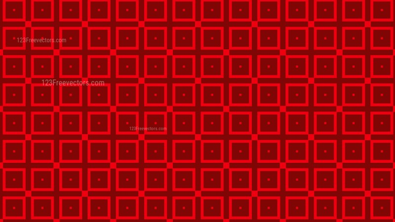 Dark Red Seamless Geometric Square Pattern Vector Image