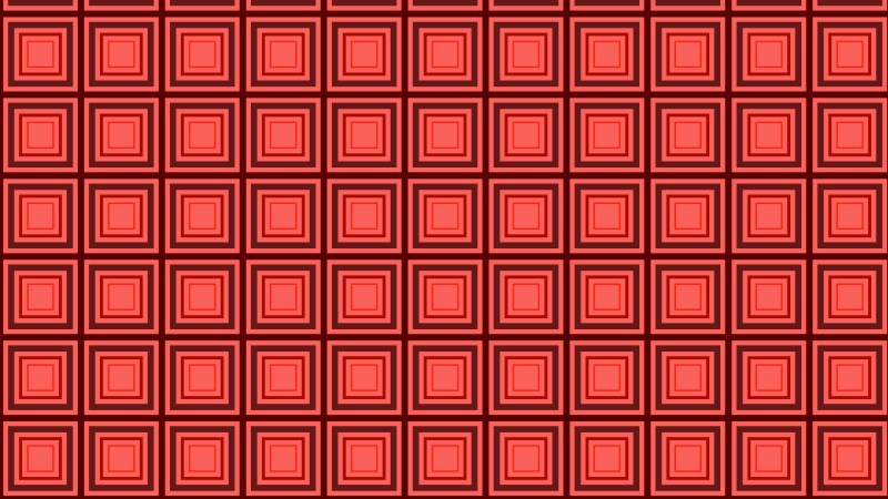 Red Seamless Concentric Squares Pattern