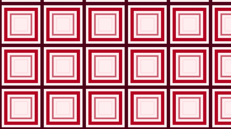 Red Geometric Concentric Squares Pattern