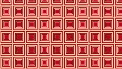 Red Seamless Concentric Squares Pattern Background Design