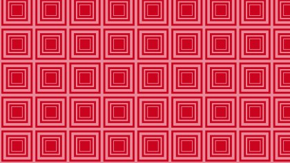 Red Concentric Squares Pattern Background