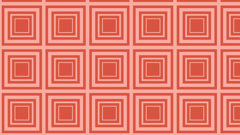 Red Concentric Squares Background Pattern