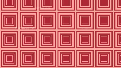 Red Seamless Concentric Squares Pattern Background