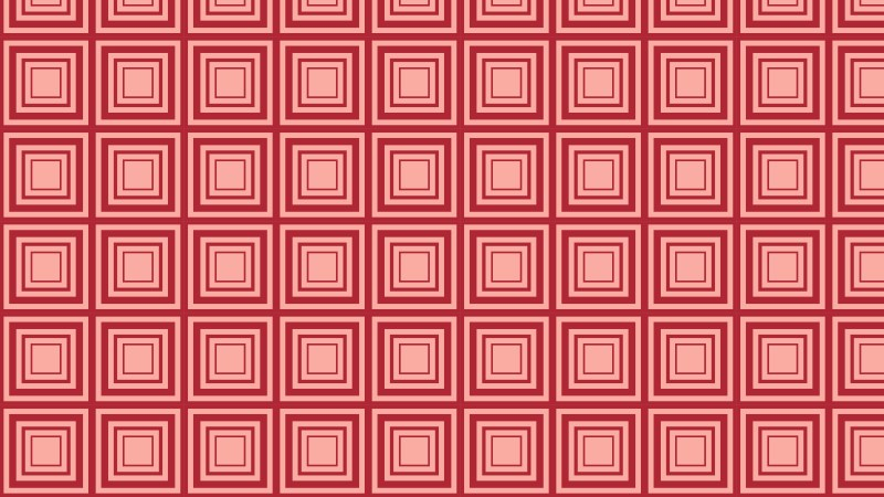 Red Seamless Concentric Squares Background Pattern