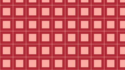 Red Geometric Square Pattern