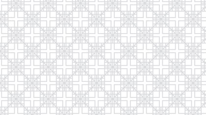 White Seamless Geometric Square Pattern Vector Art