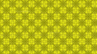 Yellow Seamless Square Pattern Background