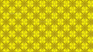 Yellow Seamless Geometric Square Background Pattern