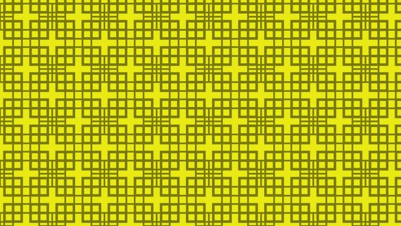 Yellow Geometric Square Background Pattern Illustration
