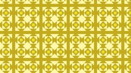 Yellow Seamless Geometric Square Pattern