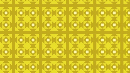 Yellow Seamless Geometric Square Pattern Background