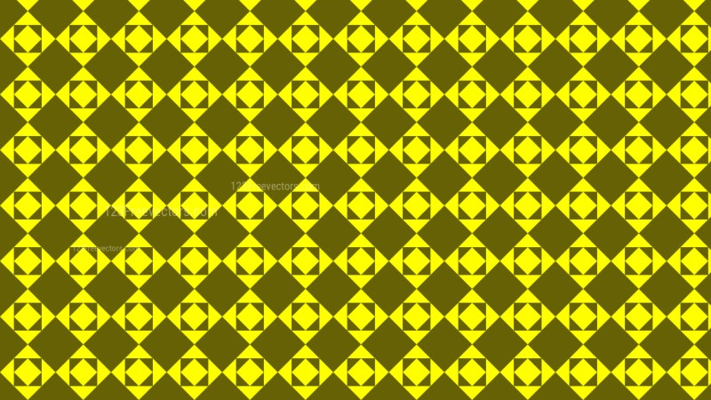 Yellow Geometric Square Pattern Image