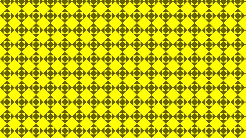 Yellow Geometric Square Pattern Background Vector Graphic