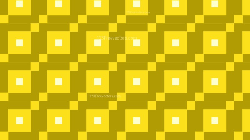 Yellow Seamless Square Pattern Background Vector Illustration